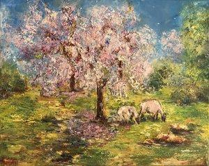 Diana MALIVANI - Pittura - Under the Almond Tree