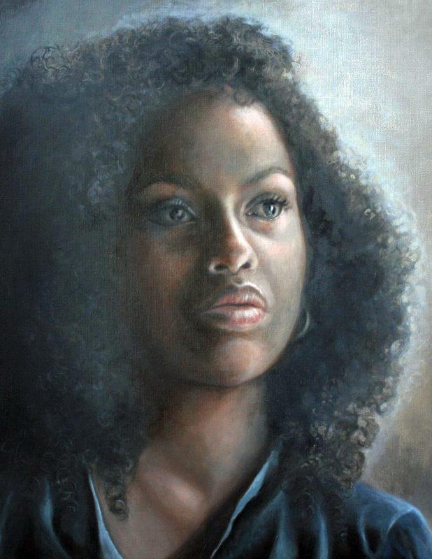 Nathalie BIBOUGOU - Painting - « Maya Van Peebles »