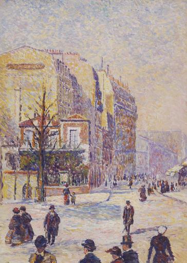 Louis HAYET - Painting - Scène Animée