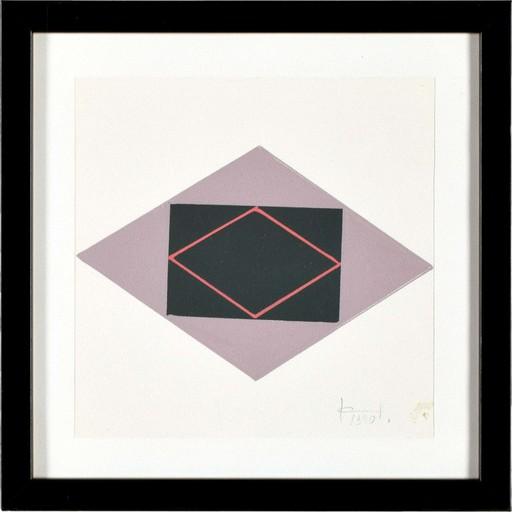 Jan CHWAŁCZYK - Zeichnung Aquarell - Geometric Composition II