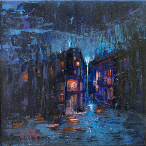 Danielle MAILLET-VILA - Painting - Reverbere