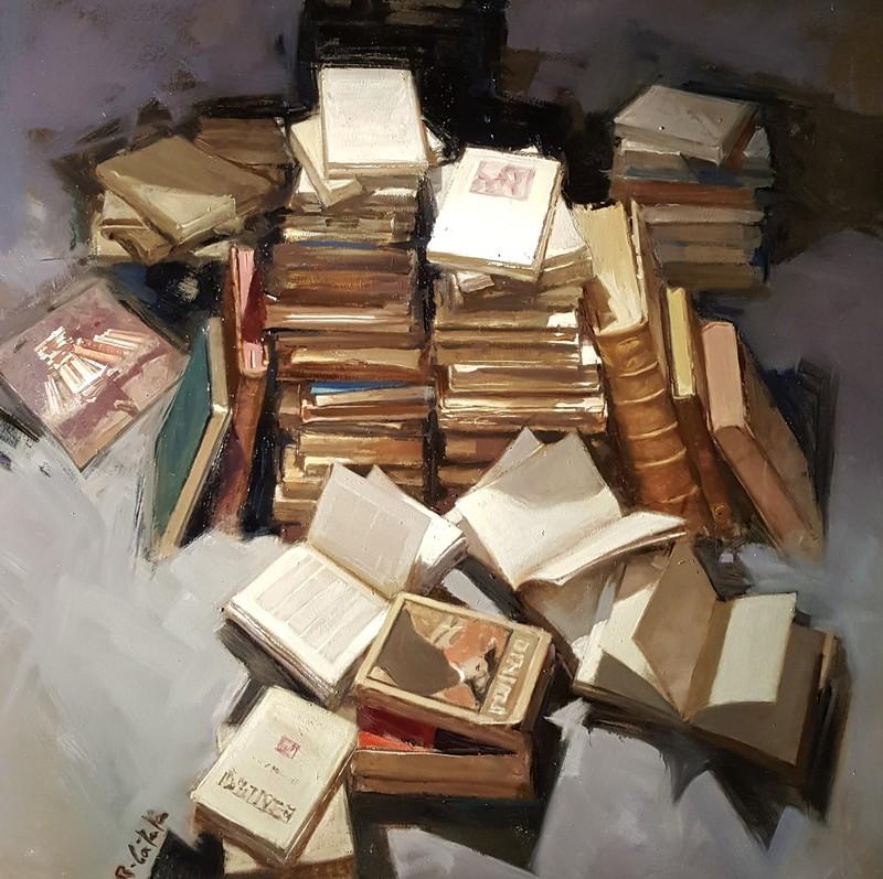 Rafael CATALA ALCON - Pintura - Pila de llibres