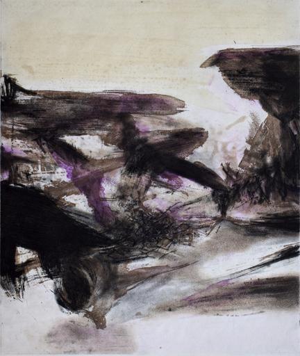 赵无极 - 版画 - Composition IV, from: Canto Pisan