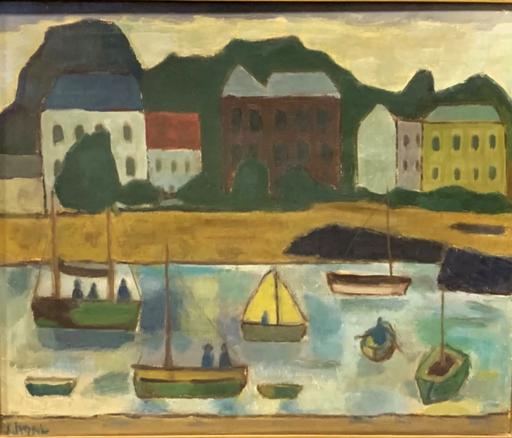 Simon SEGAL - Pintura - bateaux  de pêche en Bretagne