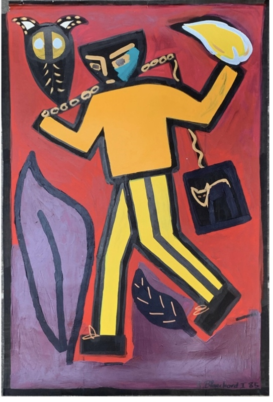 Rémy BLANCHARD - Painting - Sans titre