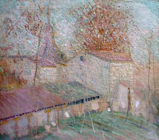 Gregorio PRIETO MUÑOZ - Painting - Paysage de la mancha
