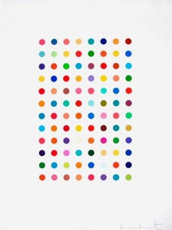 Damien HIRST - Print-Multiple - Xylene Cyanol Dye Solution