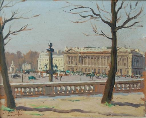 Raymond RENEFER - Painting - Paris: Place de la Concorde