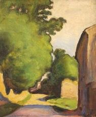Anatole Eugène HILLAIRET - Painting - The village street
