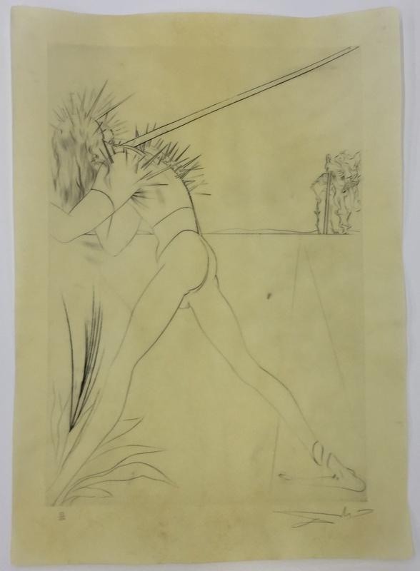 萨尔瓦多·达利 - 版画 - Ily a des soldats tout hérissés de pointes