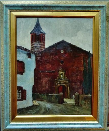René Maxime CHOQUET - Pittura - Eglise d'Ossès, Pays-Basque