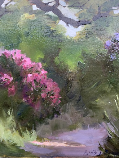 Nicky PHILIPPS - Pittura - Rhododendrons, Peep-In Walk, Picton