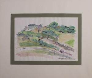Leonardo CASTELLANI - Dibujo Acuarela - Paesaggio marchigiano
