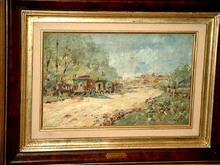 Georg WOLF - Pintura - Kirmes in Oberkassel bei Düsseldorf