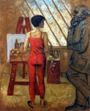 Carlos ESTEBAN - Painting - Maître et son élève 2    (Cat N° 3177)