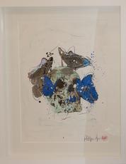 Philippe PASQUA - Pittura - Vanité aux papillons