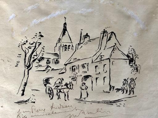 Maurice ASSELIN - Zeichnung Aquarell - Sans titre