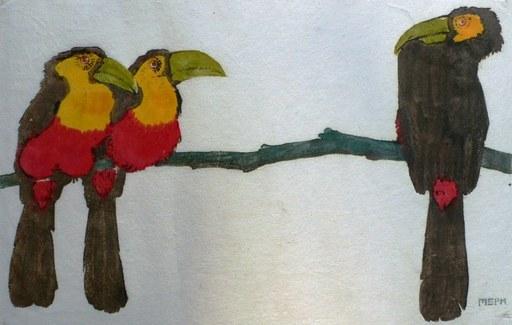 "Martin Erich PHILIPP - Print-Multiple - ""Toucans"""