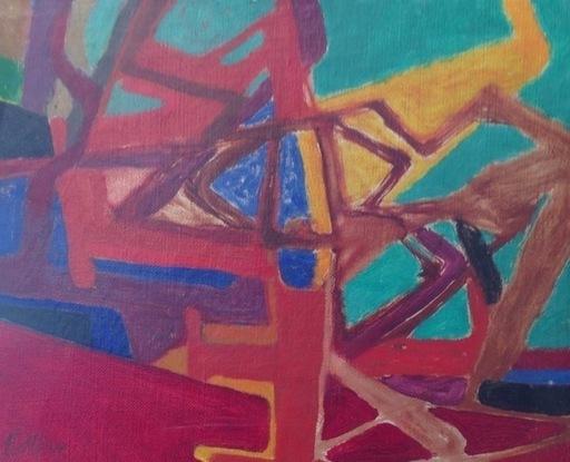 Maurice ESTEVE - Pittura - L'arbre Rouge