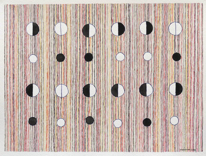 Jérémie IORDANOFF - Gemälde - Pions (Abstract work on paper)
