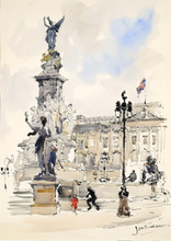 Jan KORTHALS (1916-1972) - Buckingham Palace in London