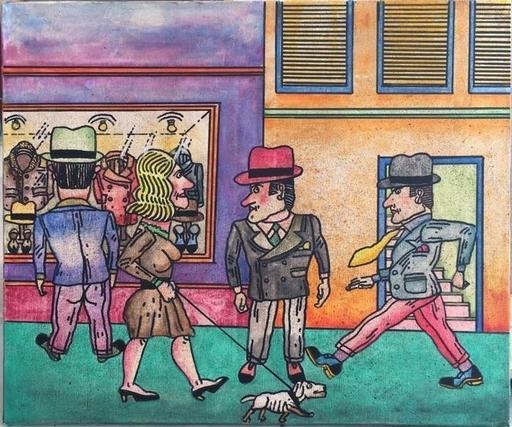 Antonio SEGUI - Painting - RODA DE HOMBRE