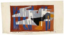 Achille PERILLI (1927) - Progetto per parete Triennale 1951