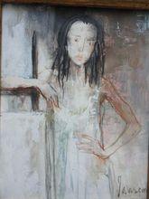 Jean JANSEM - Pintura - Joellet at the easel