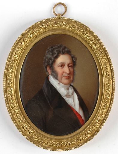 """Sophie LIENARD - Pittura - """"Portrait of the King Louis-Philippe"""" , 1.H. of the 19th C."""