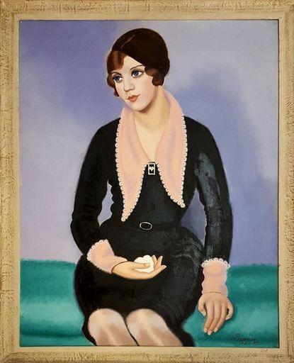 Victor Ferdinand BOURGEOIS - Gemälde - LA PARISIENNE