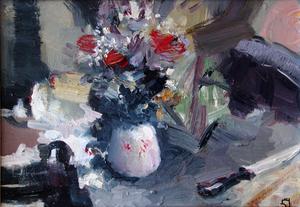 Levan URUSHADZE - Peinture - Still life with a knife