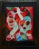 Pierre BERJOLE - Drawing-Watercolor - Composition aux jongleurs de cerceaux circa 1977