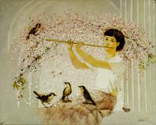 "Tatjana PALCUKA - Painting - ""Melodija Flautai"" (flute tune)    (Cat N° 5452)"