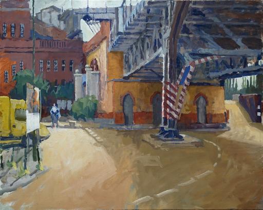 Frank SUPLIE - Pittura - Berlin, U-Bahnhof Gleisdreieck