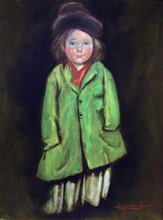 Barry LEIGHTON-JONES - Painting - Lily Williams, after Luks