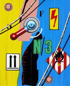 Peter KLASEN - 版画 - Haute tension flêches N/3