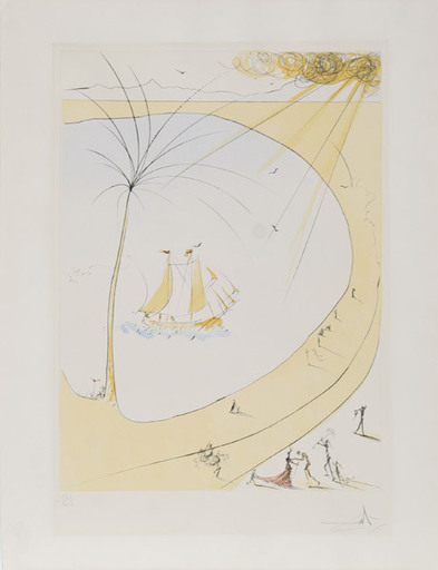 Salvador DALI - Stampa Multiplo - Homage to Picasso