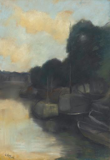 Lesser URY - Peinture - Auf dem Kanal