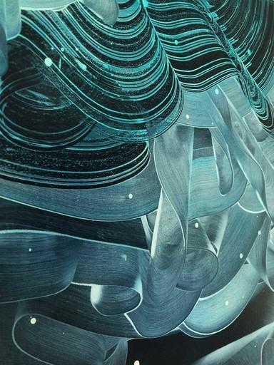 Patrick TABARELLI - Painting - Torque tourquoise