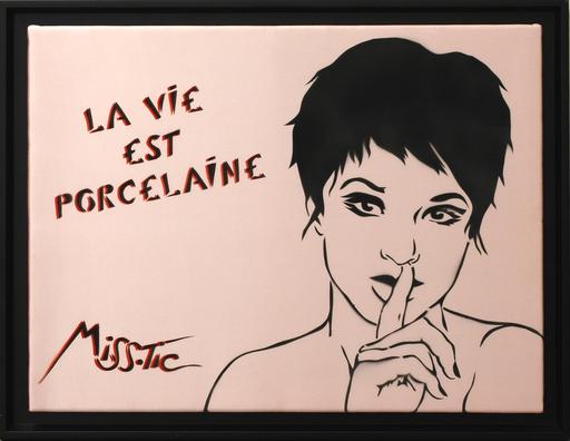 MISSTIC - Painting - La Vie Est Porcelaine