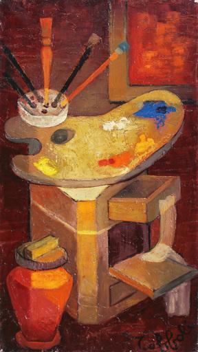 Louis TOFFOLI - Pintura - la palette