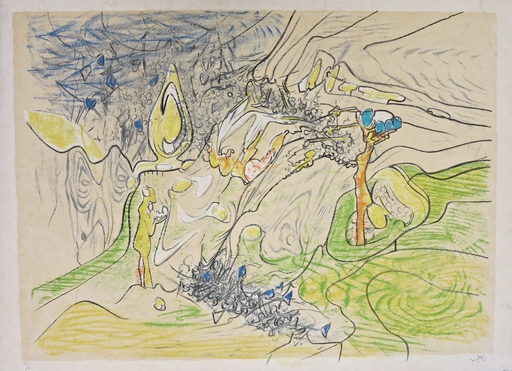 Roberto MATTA - Stampa-Multiplo - Five lithographies on Japon, plate II