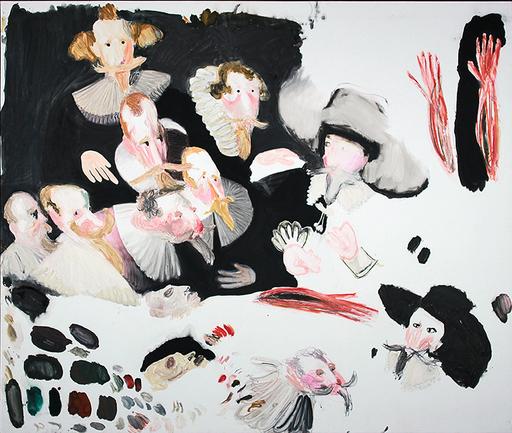Gaël DAVRINCHE - Pittura - La leçon d'anatomie