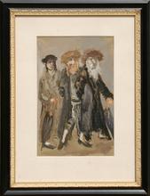 MANÉ-KATZ - Painting - Three Men