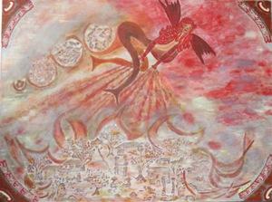 ATCHAMA - Painting - déesse de la protection