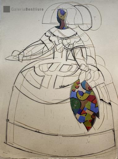 马诺罗·瓦尔代斯 - 版画 - Menina IV