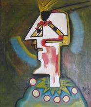 Abol ATIGHETCHI - Gemälde - LE FOU