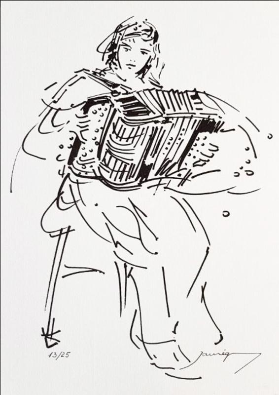 Christian JAUREGUY - Estampe-Multiple - Note pour danser