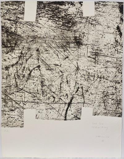 爱德华多•奇利达 - 版画 - Yves Bonnefoy: Une Hélène de vent au de fumée II