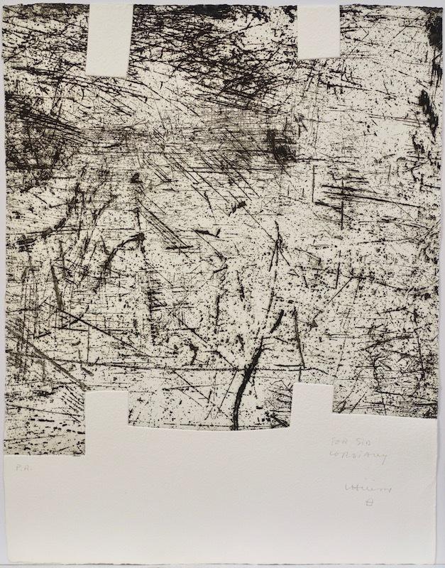 Eduardo CHILLIDA - Print-Multiple - Yves Bonnefoy: Une Hélène de vent au de fumée II